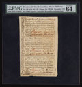 Colonial Notes:North Carolina, North Carolina December, 1771 2s6d House; £1; 10s Uncut Sheet ofThree PMG Choice Uncirculated 64 EPQ.. ... (Total: 1 sheet)