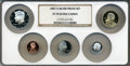 Proof Sets, 2007-S SET Silver Proof Set PR70 Ultra Cameo NGC. This set includes: Sacagawea Dollar, Kenned... (Total: 5 coins)