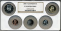 Proof Sets, 2006-S SET Clad Proof Set PR70 Ultra Cameo NGC. This set includes: Sacagawea Dollar, Kennedy ... (Total: 5 coins)