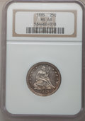 Seated Quarters: , 1885 25C MS63 NGC. NGC Census: (15/42). PCGS Population (25/48).Mintage: 13,600. Numismedia Wsl. Price for problem free NG...