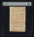 Colonial Notes:North Carolina, North Carolina December, 1771 2s6d House; £1; 10s Uncut Sheet ofThree PMG Gem Uncirculated 65 EPQ.. ... (Total: 1 sheet)