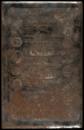Obsoletes By State:Massachusetts, Conway, MA- Conway Bank $3-$5-$10-$20 G6b-G8b-G10b-G12b SteelPrinting Plate. ...