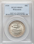 Commemorative Silver: , 1936 50C Wisconsin MS65+ PCGS. PCGS Population (2192/1911). NGCCensus: (1291/1569). Mintage: 25,015. Numismedia Wsl. Price...