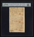 Colonial Notes:North Carolina, North Carolina December, 1771 2s6d House; £1; 10s Uncut Sheet ofThree PMG Gem Uncirculated 66 EPQ.. ... (Total: 1 sheet)