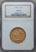 Liberty Eagles: , 1883-S $10 AU53 NGC. NGC Census: (5/111). PCGS Population (14/82).Mintage: 38,000. Numismedia Wsl. Price for problem free ...
