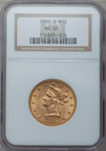 Liberty Eagles: , 1905-S $10 MS60 NGC. NGC Census: (40/100). PCGS Population (11/83).Mintage: 369,250. Numismedia Wsl. Price for problem fre...