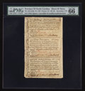 Colonial Notes:North Carolina, North Carolina December, 1771 2s6d House; £1; 10s Uncut Sheet of Three PMG Gem Uncirculated 66 EPQ.. ... (Total: 1 sheet)