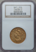 Liberty Eagles: , 1847 $10 AU53 NGC. NGC Census: (114/378). PCGS Population (51/78).Mintage: 862,258. Numismedia Wsl. Price for problem free...