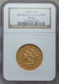 Liberty Eagles: , 1844-O $10 XF45 NGC. Ex: Richmond Collection. NGC Census: (60/228).PCGS Population (46/80). Mintage: 118,700. Numismedia W...