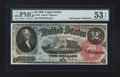 Large Size:Legal Tender Notes, Fr. 42 $2 1869 Legal Tender PMG About Uncirculated 53 EPQ.. ...