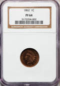 Proof Indian Cents: , 1862 1C PR64 NGC. NGC Census: (204/216). PCGS Population (136/108). Mintage: 550. Numismedia Wsl. Price for problem free NG...