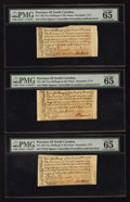 Colonial Notes:North Carolina, North Carolina December, 1771 2s 6d PMG Gem Uncirculated 65 EPQ. Three Examples.. ... (Total: 3 notes)