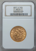 Liberty Eagles: , 1907-S $10 MS61 NGC. PCGS Population (29/69). Mintage: 210,500.Numismedia Wsl. Price for problem free N...