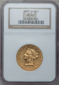 Liberty Eagles: , 1897-O $10 MS60 NGC. NGC Census: (39/151). PCGS Population(18/136). Mintage: 42,500. Numismedia Wsl. Price for problem fre...