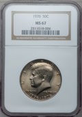 Kennedy Half Dollars: , 1976 50C Clad MS67 NGC. NGC Census: (3/0). PCGS Population (13/0).Mintage: 234,308,000. Numismedia Wsl. Price for problem ...