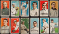 """Baseball Cards:Lots, 1909-11 T206 White Border Tobacco Collection (12) - All """"Sovereign"""" Brand Backs! ..."""