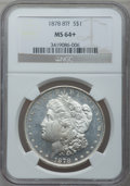 Morgan Dollars: , 1878 8TF $1 MS64+ NGC. NGC Census: (1897/351). PCGS Population(2308/512). Mintage: 699,300. Numismedia Wsl. Price for prob...