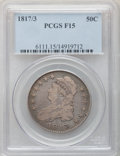 Bust Half Dollars: , 1817/3 50C Fine 15 PCGS. PCGS Population (9/160). NGC Census:(4/127). Numismedia Wsl. Price for problem free NGC/PCGS coi...