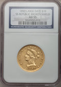 Liberty Eagles, 1850 $10 Large Date AU55 NGC....