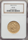Liberty Eagles: , 1842-O $10 VF35 NGC. NGC Census: (9/194). PCGS Population (21/89).Mintage: 27,400. Numismedia Wsl. Price for problem free ...