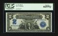 Large Size:Silver Certificates, Fr. 256 $2 1899 Silver Certificate PCGS Gem New 66PPQ.. ...