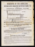 "Confederate Notes:Group Lots, S.C. Upham Advertisement for ""Mementos of the Rebellion"". ..."