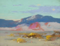 Fine Art - Painting, American:Modern  (1900 1949)  , ERNEST HENRY POHL (American, 1874-1956). California Desert.Pastel on paper . 4-1/4 x 5-1/2 inches (10.8 x 14.0 cm). Sig...