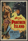 "Movie Posters:Adventure, Bomba on Panther Island (Monogram, 1949). One Sheet (27"" X 41"").Adventure. Starring Johnny Sheffield, Allene Roberts, Lita ..."