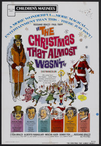 """The Christmas That Almost Wasn't (Cinetel, R-1972). One Sheet (27"""" X 41""""). Family. Starring Rossano Brazzi, Pa..."""