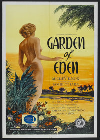 """Garden of Eden (Excelsior, 1954). One Sheet (27"""" X 41""""). Adult. Starring Mickey Knox, R.G. Armstrong, Jane Ros..."""