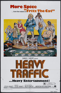 "Heavy Traffic (AIP, 1973). One Sheet (27"" X 41""). Animated Comedy. Starring Joseph Kaufmann, Beverly Hope Atki..."