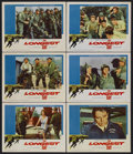 "Movie Posters:War, The Longest Day (20th Century Fox, 1962). Lobby Cards (6) (11"" X14""). War. With an all-star cast, including Richard Beymer,...(Total: 6 Items)"