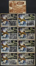 """Movie Posters:War, Passage to Marseille (Warner Brothers, R-1950s). Mexican Lobby CardSet of 8 (12.5"""" X 16.75""""). War. Starring Humphrey Bogart... (Total:9 Item)"""