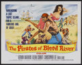 "Movie Posters:Adventure, The Pirates of Blood River (Columbia, 1962). Half Sheet (22"" X28""). Action Adventure. Starring Kerwin Mathews, Glenn Corbet..."