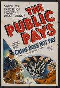 """Movie Posters:Crime, The Public Pays (MGM, 1936). One Sheet (27"""" X 41""""). Crime. StarringKarl Hackett, Cy Kendall, George Humbert and Paul Stanto..."""