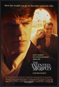 """The Talented Mr. Ripley (Paramount, 1999). One Sheet (27"""" X 40"""") Double Sided. Crime. Starring Matt Damon, Gwy..."""
