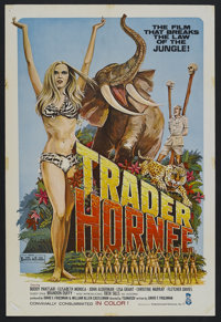 "Trader Hornee (Entertainment Ventures, Inc., 1970). One Sheet (27"" X 41""). Adult. Starring Buddy Pantsari, Joh..."