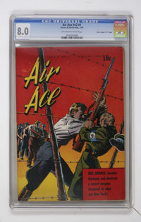"""Air Ace V2#1 Davis Crippen (""""D"""" Copy) pedigree (Street & Smith, 1944) CGC VF 8.0 Off-white to white pages..."""