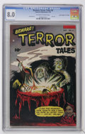"Golden Age (1938-1955):Horror, Beware Terror Tales #8 Davis Crippen (""D"" Copy) pedigree (Fawcett,1953) CGC VF 8.0 Off-white to white pages...."