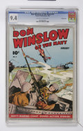 Golden Age (1938-1955):War, Don Winslow of the Navy #11 Crowley Copy pedigree (Fawcett, 1944)CGC NM 9.4 Off-white to white pages....