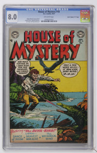 """House of Mystery #18 Davis Crippen (""""D"""" Copy) pedigree (DC, 1953) CGC VF 8.0 Off-white pages"""