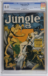 "Jungle Comics #45 Davis Crippen (""D"" Copy) pedigree (Fiction House, 1943) CGC VF 8.0 Cream to off-white pages..."