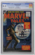 Silver Age (1956-1969):Horror, Marvel Tales #144 White Mountain pedigree (Atlas, 1956) CGC VF+ 8.5White pages....