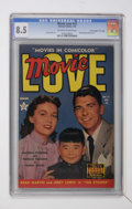 """Golden Age (1938-1955):Romance, Movie Love #13 Davis Crippen (""""D"""" Copy) pedigree (Famous Funnies,1952) CGC VF+ 8.5 Off-white to white pages...."""