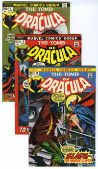 Tomb of Dracula #5-10 Group (Marvel, 1972-73) Condition: Average FN/VF.... (Total: 6)
