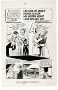 Original Comic Art:Splash Pages, Harvey Romance Comics Contents Page Original Art, Group of 5(Harvey, 1956-57). These five fabulous contents pages from vari...(Total: 5 Items)