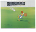 "Animation Art:Limited Edition Cel, ""Fly Ball"" Limited Edition Hand Painted Cel #78/200 Original Art(Walter Lantz Productions, 1992).... (Total: 2)"
