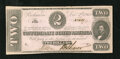 Confederate Notes:1862 Issues, T54 $2 1862. Scatterred handling is noticed on this $2. ExtremelyFine....