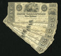 Obsoletes By State:Ohio, Gallipolis, OH- Bank of Gallipolis $5 1839-40 Eight Examples. Edgewear is noticed on this Good-Very Good grouping. Gall... (Total: 8notes)