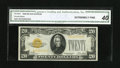 Small Size:Gold Certificates, Fr. 2402 $20 1928 Gold Certificate. CGA Extremely Fine 40.. Nice color and margins are found on this $20....